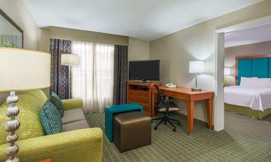 Accessible One Bedroom Guestroom Suite Living Room