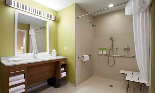 Accessible Suites Roll In Shower