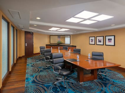 Boardroom Setup with Social Distance for Safety