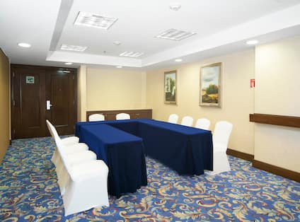 Meeting Room with U-Shape Table Layout