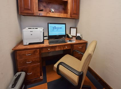 Business Center with Office Chair, Printer and Computer