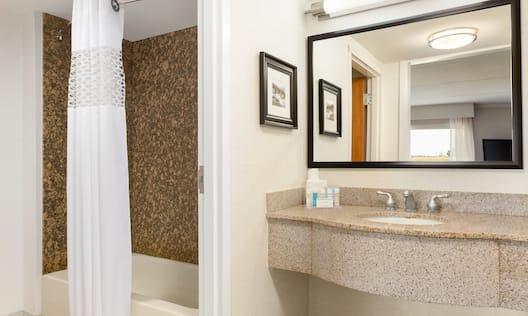Large King Bedroom Bathroom