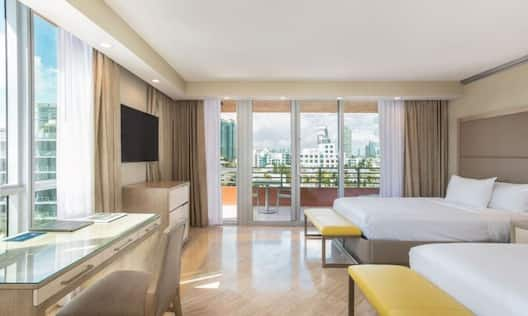 Double Room with Desk HDTV and City View