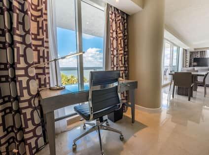 Work Desk with Ocean View