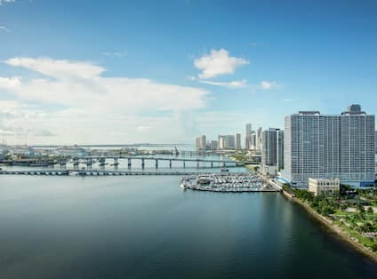 View of Hotel Building and Waterfront Area