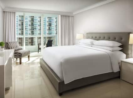 Suite bedroom area with TV
