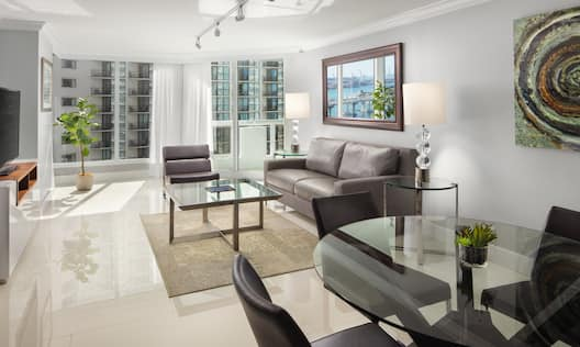 Suite living room area with Sofa Table and Chairs
