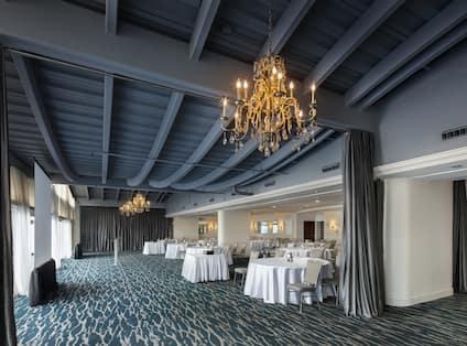 Ballroom Area with Large Windows