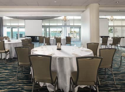 Ballroom Set up with Round Tables