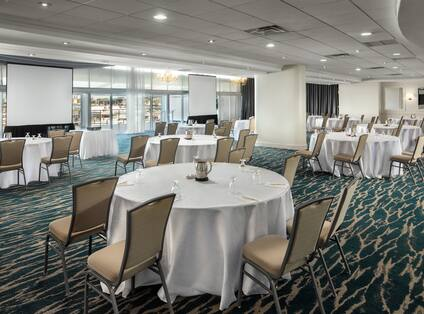 Ballroom Space Setup with Round Tables