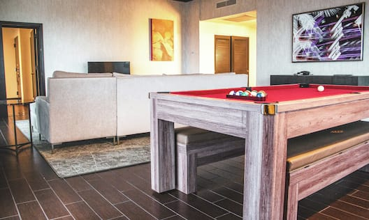 Guest Room with Pool Table and Sofa