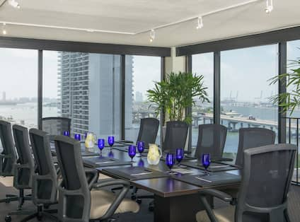 Stylish Boardroom with Views of the Water