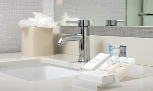 Bathroom Amenities in Vanity Area