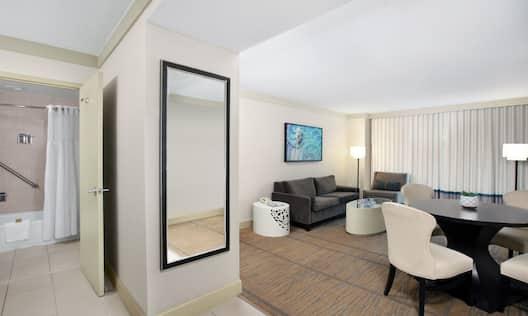 Living Area in Suite