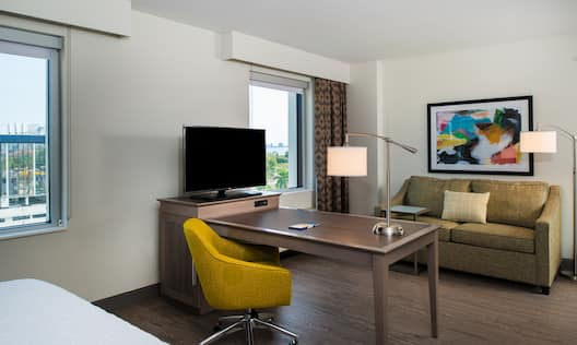 Accessible King Suite Living Area