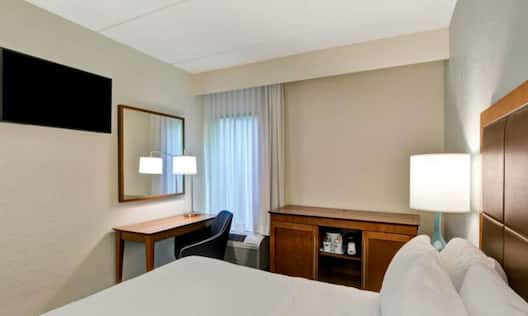 Accessible Guest Room with Bed and Work Desk