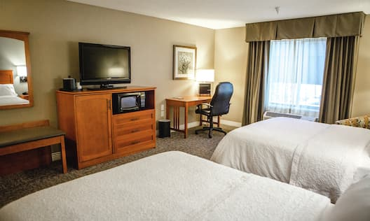 Accessible Room with 2 Queen sized Beds Desk Microfridge and TV