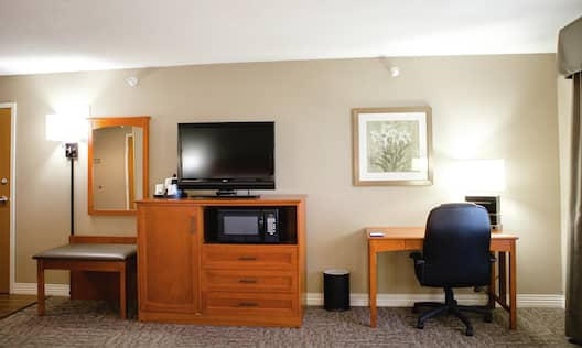 Accessible Room with Desk TV and Microwave