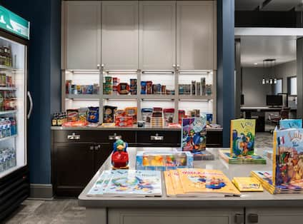 Suite Shop with Snacks, Beverages and Children's Books
