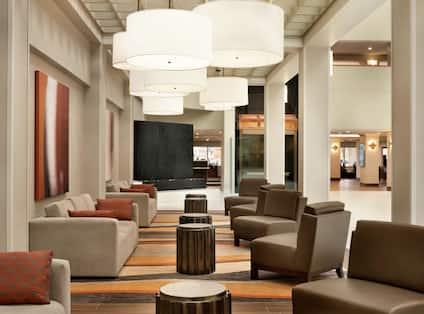 Side Sitting Area in Lobby Atrium