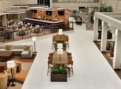 Overhead View of Lobby Walkway