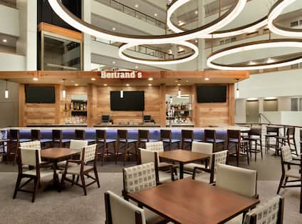 Tables and Bar in Bertrands Dining Area