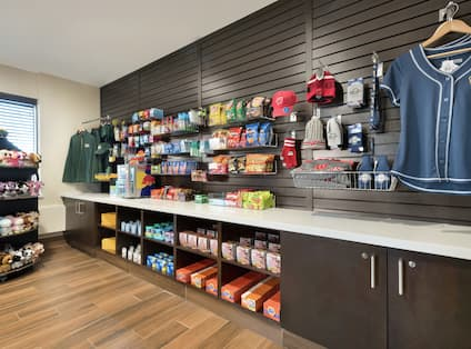 Stocked Wall in Snack Shop