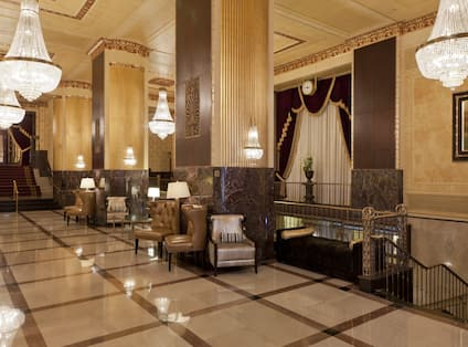 Restored 1920s Decor - Hilton Milwaukee City Center
