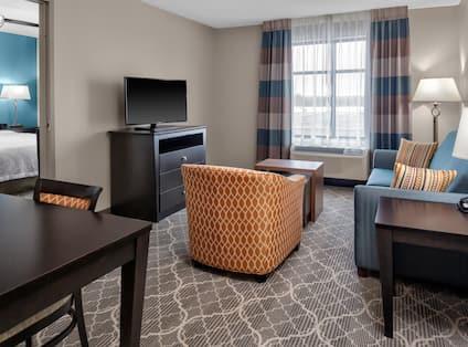 Living Space of 2 bedroom suite