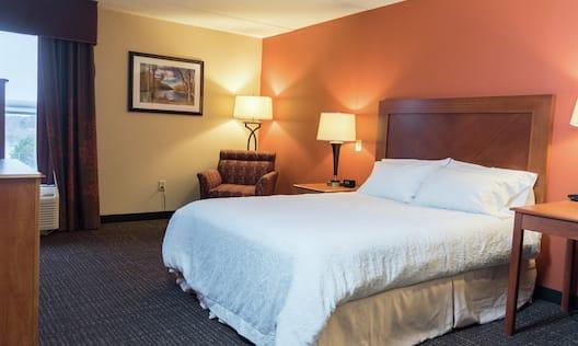 Accessible Queen Bed Hotel Guestroom