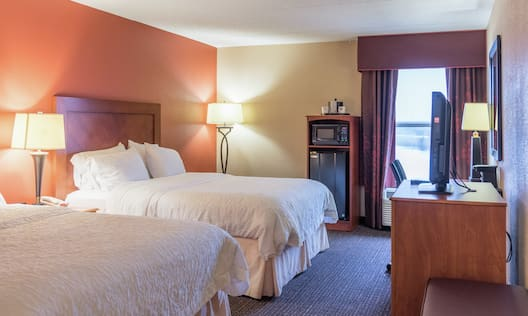 Double Queen Room with TV, Microwave, and Minifridge