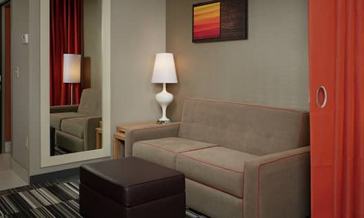 Studio Suite Living Area with Sofabed