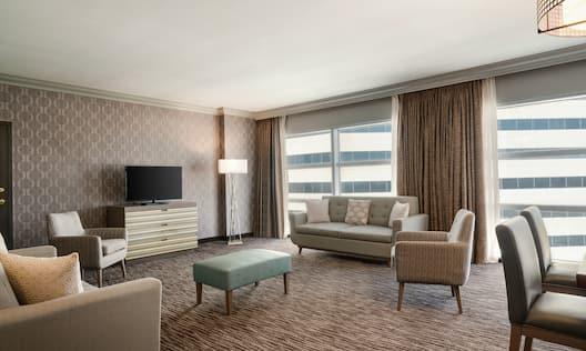 Executive Corner Suite Living Area