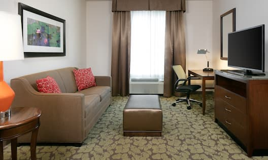 1 King Bed 1 Bedroom Suite Living Area