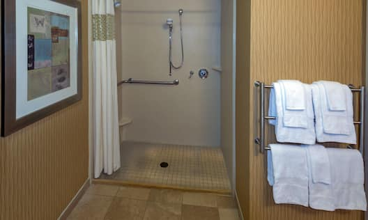 Accessible King Roll in Shower