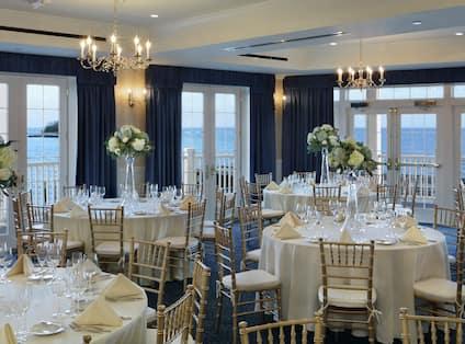 Elegant venue with ocean views