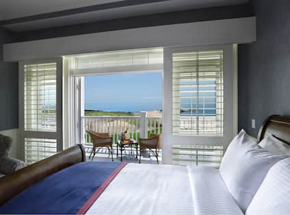 One King Bed Guest Bedroom with Outside Balcony