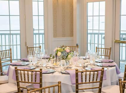 Wedding Reception in the Waterfront Ballroom