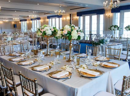 Wedding Setup with Tables and Chairs