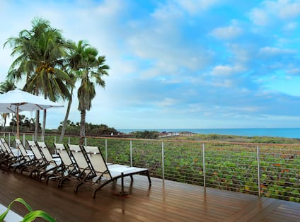 Beach View from Pool Deck