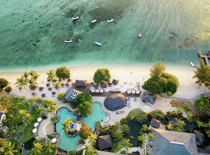 Top view Partial resort & sea