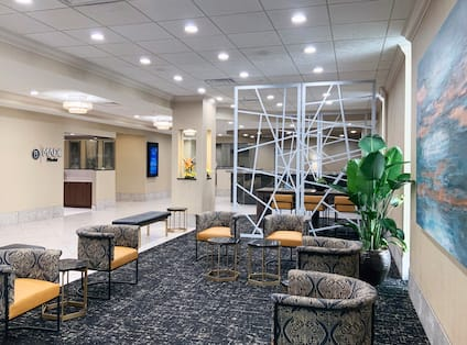 Lobby area with seating