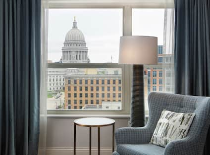 Guest Room with View of WI State Capital