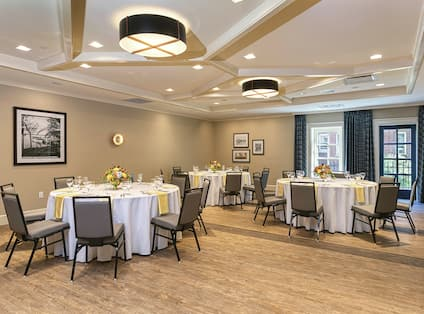 Meeting Room Set up for Social Event