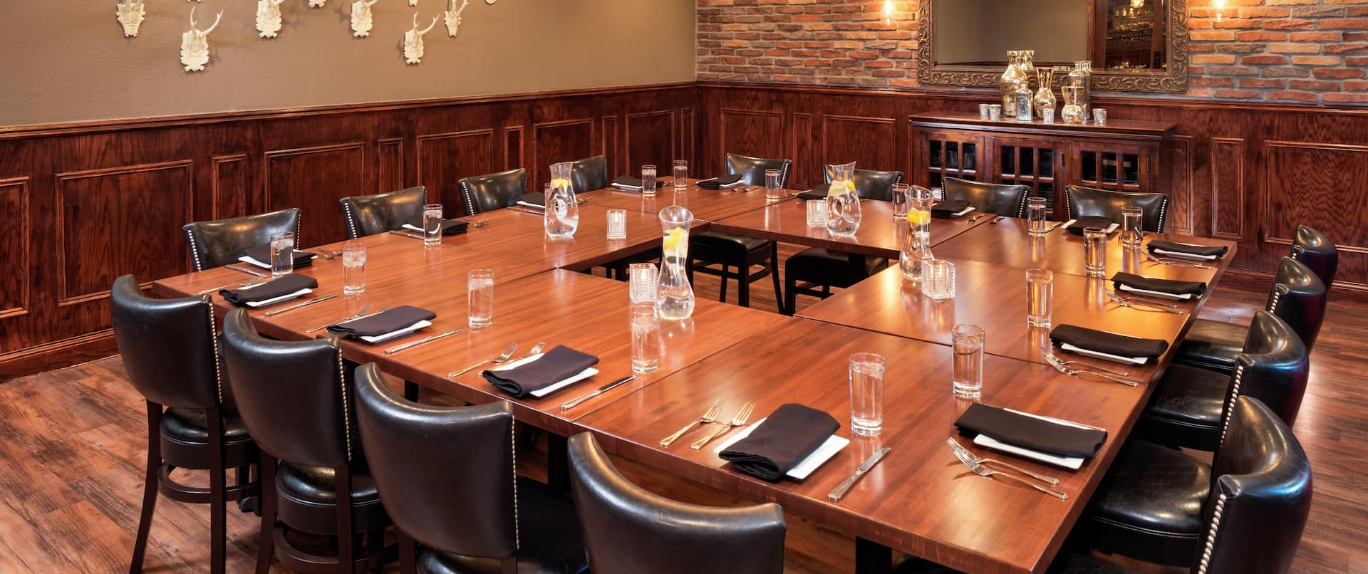 AXELS Walnut Private Dining Room