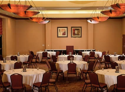 Tables and Seating Set Up Reception Style