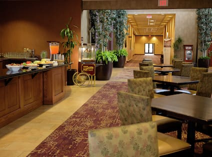 Snack Buffet and Seating Area