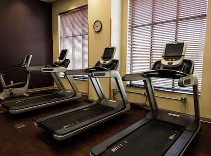 Work Out Equipment at the Fitness Center