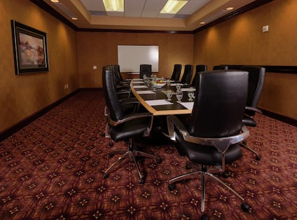 Board Room with Large Table and Leather Chairs