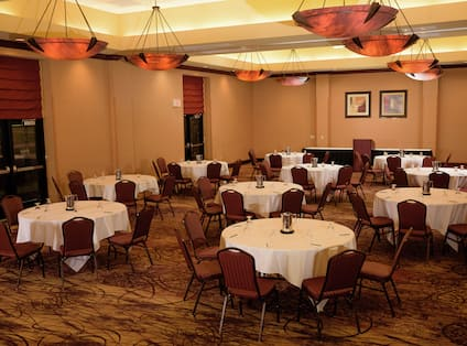 Tables and Chairs Set Up Reception Style